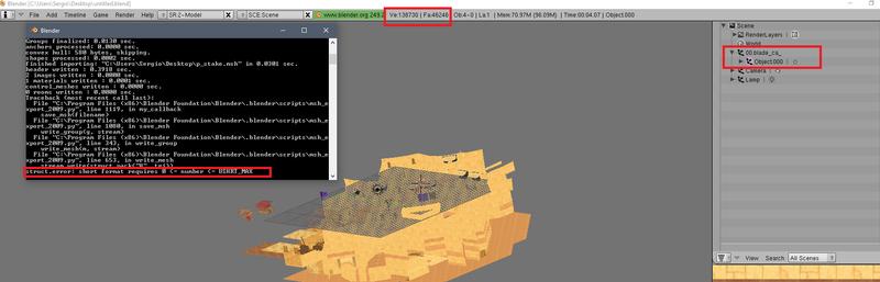 Cómo reducir vértices/caras en el Blender Error_10