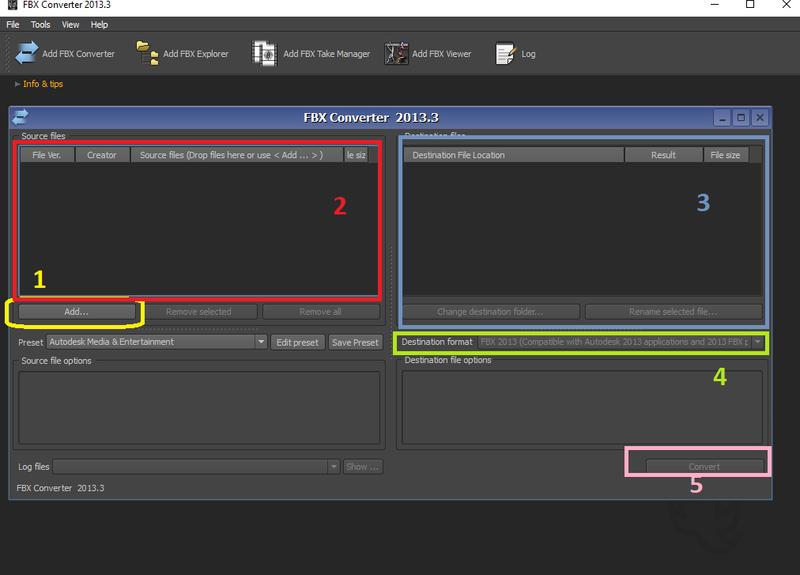 Tutorial FBX Converter 2013 para convertir modelos 3d en .FBX a .OBJ Fbxtut10