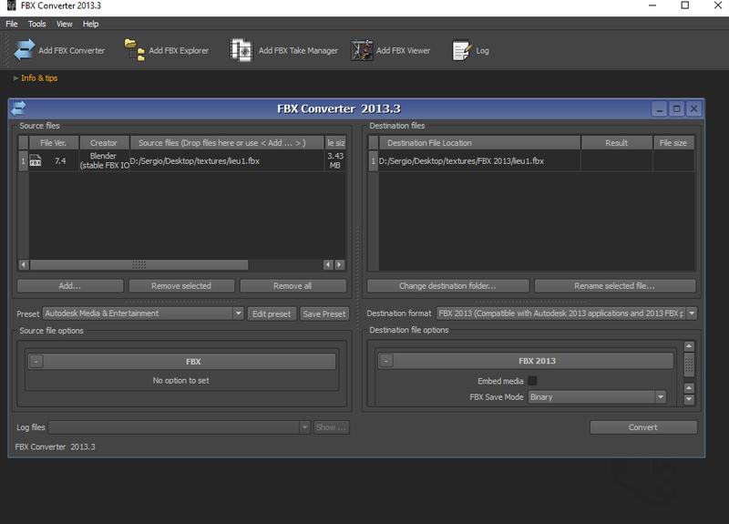 Tutorial FBX Converter 2013 para convertir modelos 3d en .FBX a .OBJ Fbxtut11