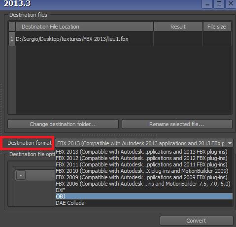 Tutorial FBX Converter 2013 para convertir modelos 3d en .FBX a .OBJ Fbxtut12
