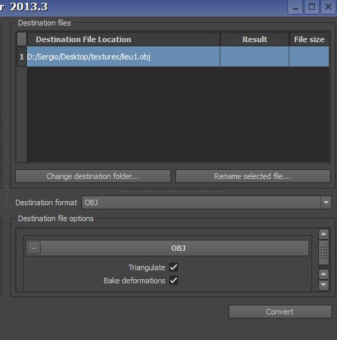 Tutorial FBX Converter 2013 para convertir modelos 3d en .FBX a .OBJ Fbxtut13