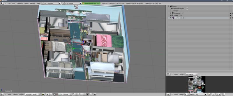 Inversión automática de textura en BLENDER Kubo1017