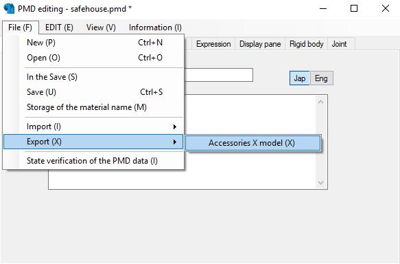 Conversión de archivos 3d MMD con el PMX Editor para The Movies - Página 2 Tuto110
