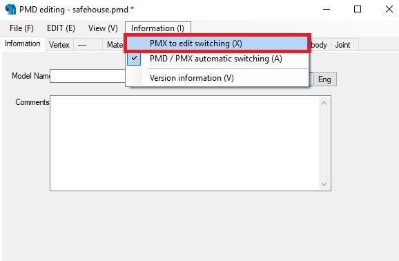 Conversión de archivos 3d MMD con el PMX Editor para The Movies - Página 2 Tuto210