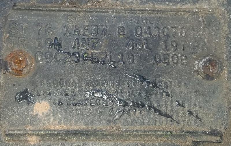 '76 Laguna S3 COWL Tag Info Cowl_t10