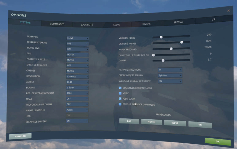 Optimisation DCS 2.5 en VR Reglag12
