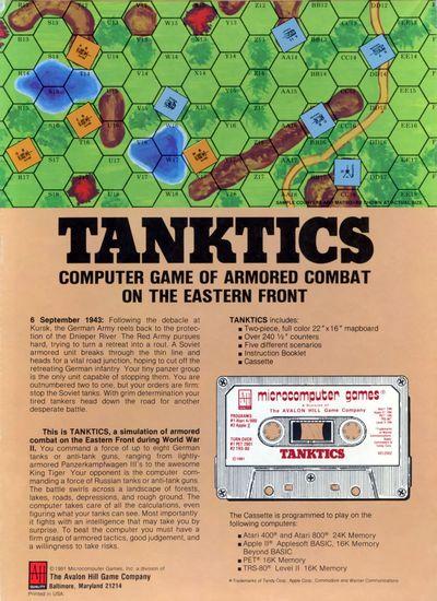 Приложение к заметкам о простых играх (полукомпьютерная игра TANKTICS, 1978) 18306210