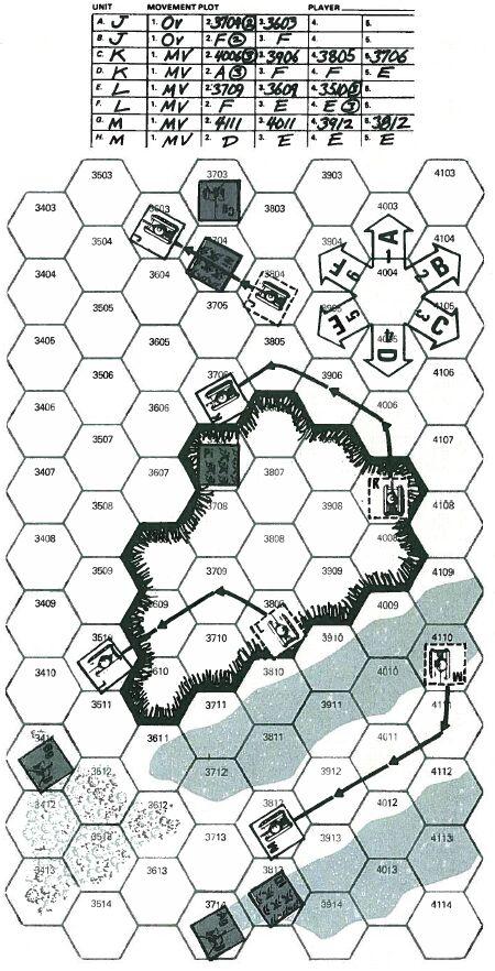 Приложение к заметкам о простых играх (полукомпьютерная игра TANKTICS, 1978) 4i0410