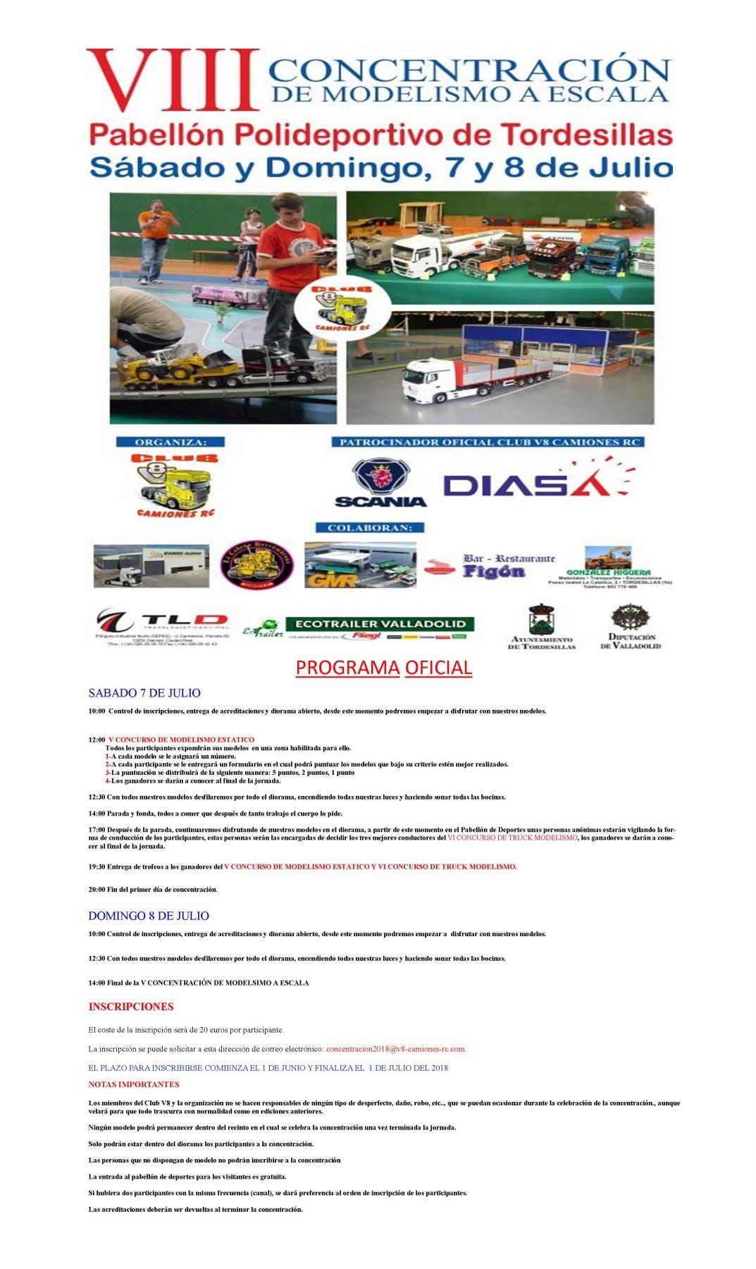 VIII Concentracion de Modelismo a Escala Tordesillas 7 y 8 de Julio 2018 Format12