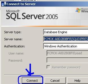 انشاء قاعدة البيانات بـــSQL Server 2005 واستعمالها  Im010