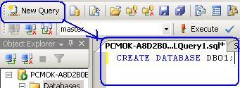 انشاء قاعدة البيانات بـــSQL Server 2005 واستعمالها  Im0211