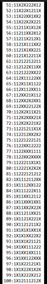 SUGESTÕES DE TOTOBOLA FMKF-35 = MÚLTIPLAS / DESDOBRAMENTOS / SIMPLES 10010