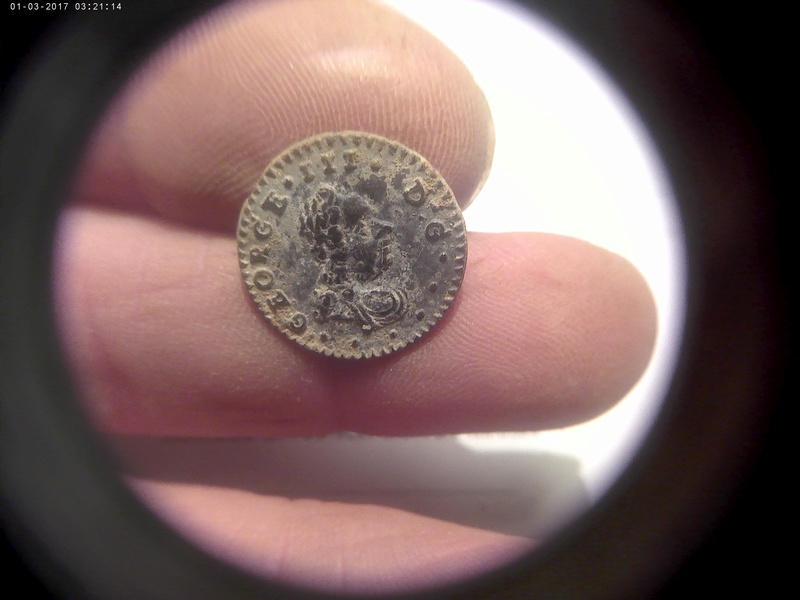 Botón retrato George III del R.U. 01032011