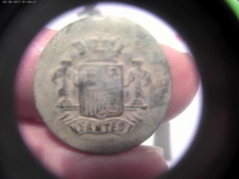 Botón Infantería. Iª República (1873-1874). 03282010