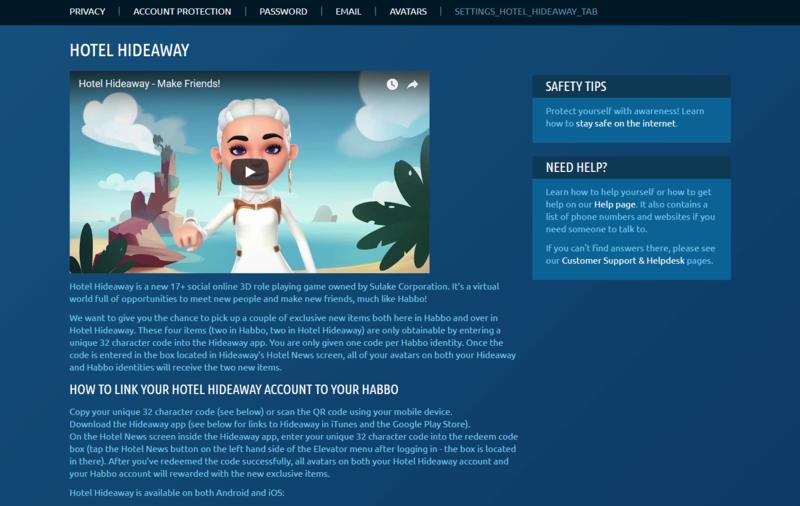 Pagina promozionale Hotel Hideaway in arrivo su Habbo Hideaw10