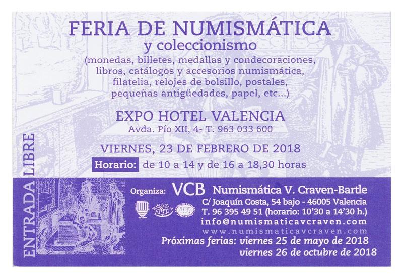 Convencion numismatica en Valencia , Viernes 23 Febrero Craven11