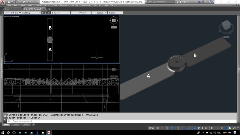 Unexpected Line Appearing when rotating an object in CAD 00110