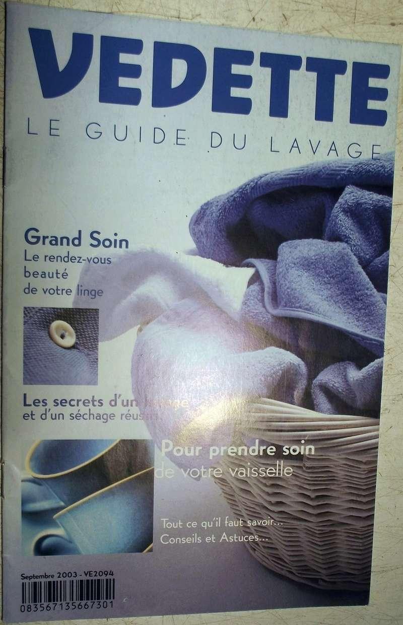 Guide du lavage Vedette 2003 V110