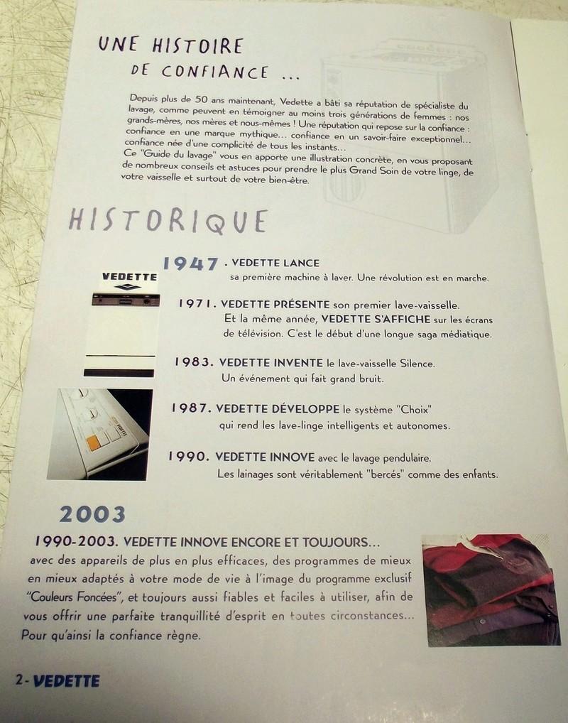 Guide du lavage Vedette 2003 V210