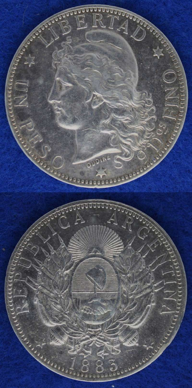 10 Centavos (Patacón). Argentina. 1882 1883_p10