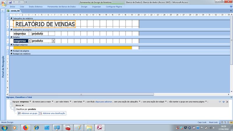 [Resolvido]Como colocar em ordem crescente a coluna data e a coluna item ao mesmo tempo no relatório? Relato11