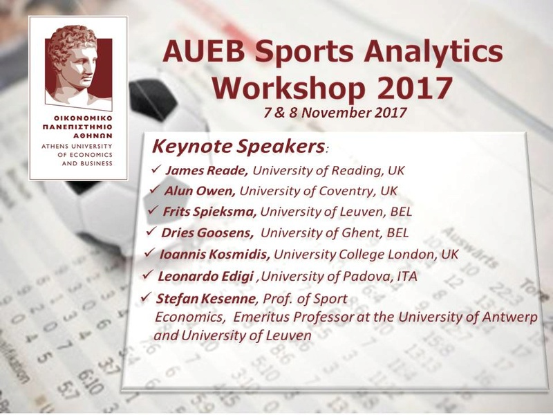 2nd Sports Analytics Workshop (SAW 2017)  Ooze110