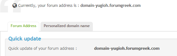 Why it doens't let me to change my domain to a personalized Ice_sc31