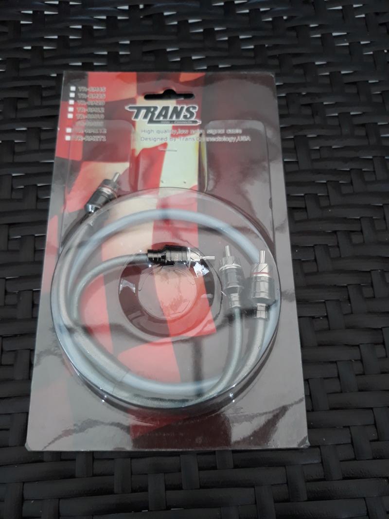 Trans USA Hi quality RCA signal cable.  20180342