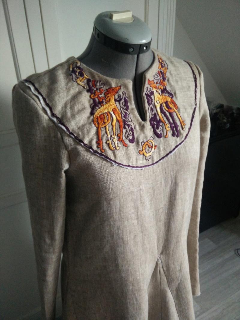 Robe et tablier viking ou.. Apron viking dress Img_2012