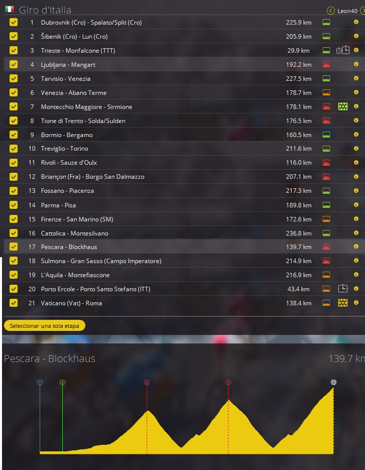 05.05.2018 27.05.2018 Giro d'Italia ITA ME UWT 2.UWT Ty760e10