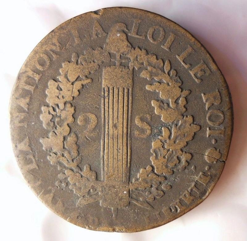 Francia 2 Soles 1792 - Luis XVI como monarca constitucional S-l16019