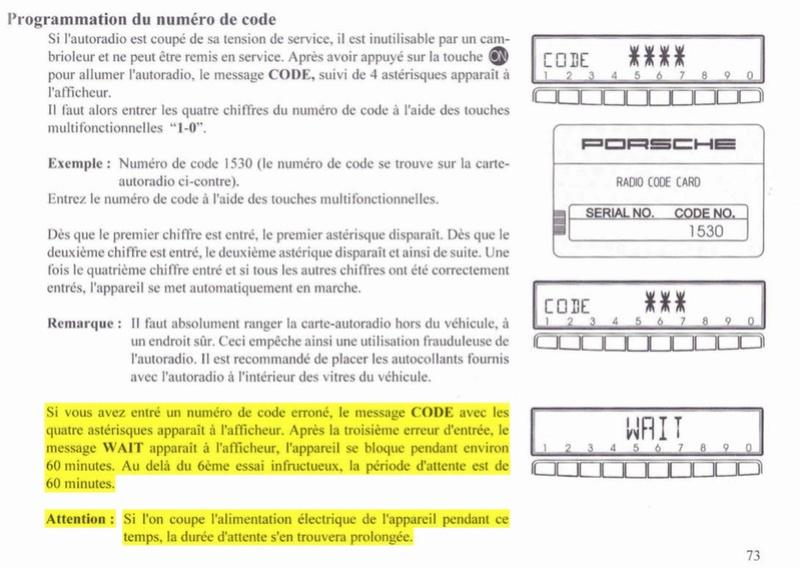 erreur de code radio Captur15