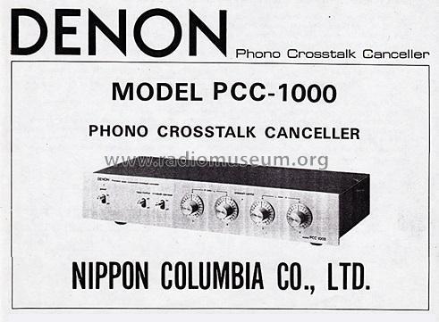 Denon PCC-1000 Precision Audio Component/Crosstalk Canceller Denon_10