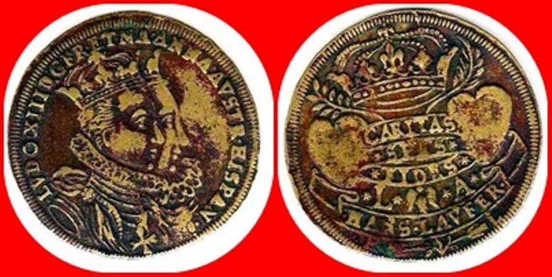 Jeton de Nuremberg (Louis XIII y Anna de Austria.) 1615_110