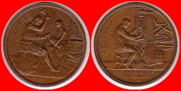 1910 La casa de la moneda en Bruselas Brux_110