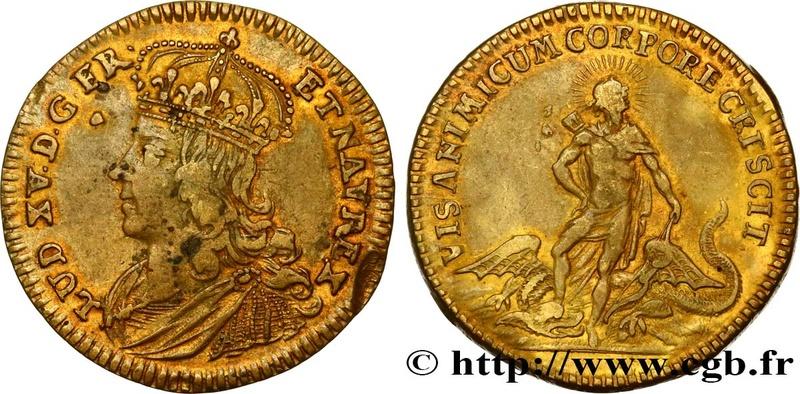 "Jeton Nuremberg, Louis XV ""VIS ANIMI CVM CORPORE CRESCIT"" ... Fjt_4510"