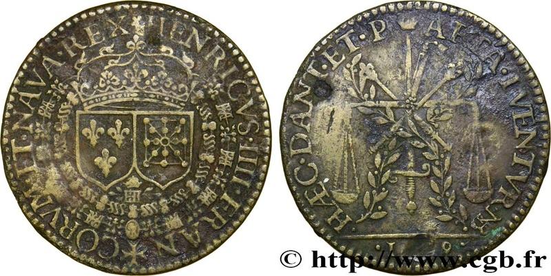 1609 Henricus IIII Espada y balanza Fjt_4513
