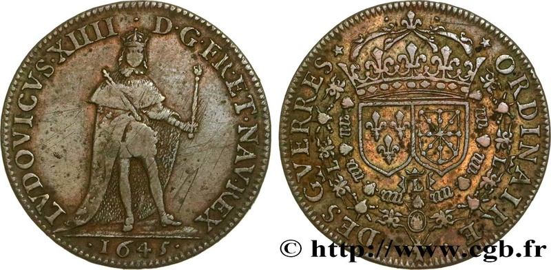 LUDOVICUS XIIII ,1645 , DES GUERRES ORIDINARIE Fjt_4514