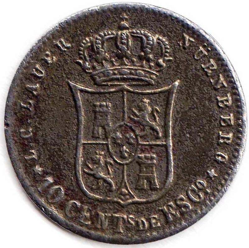 Raro Jeton de Isabel II Reina de España Img90010