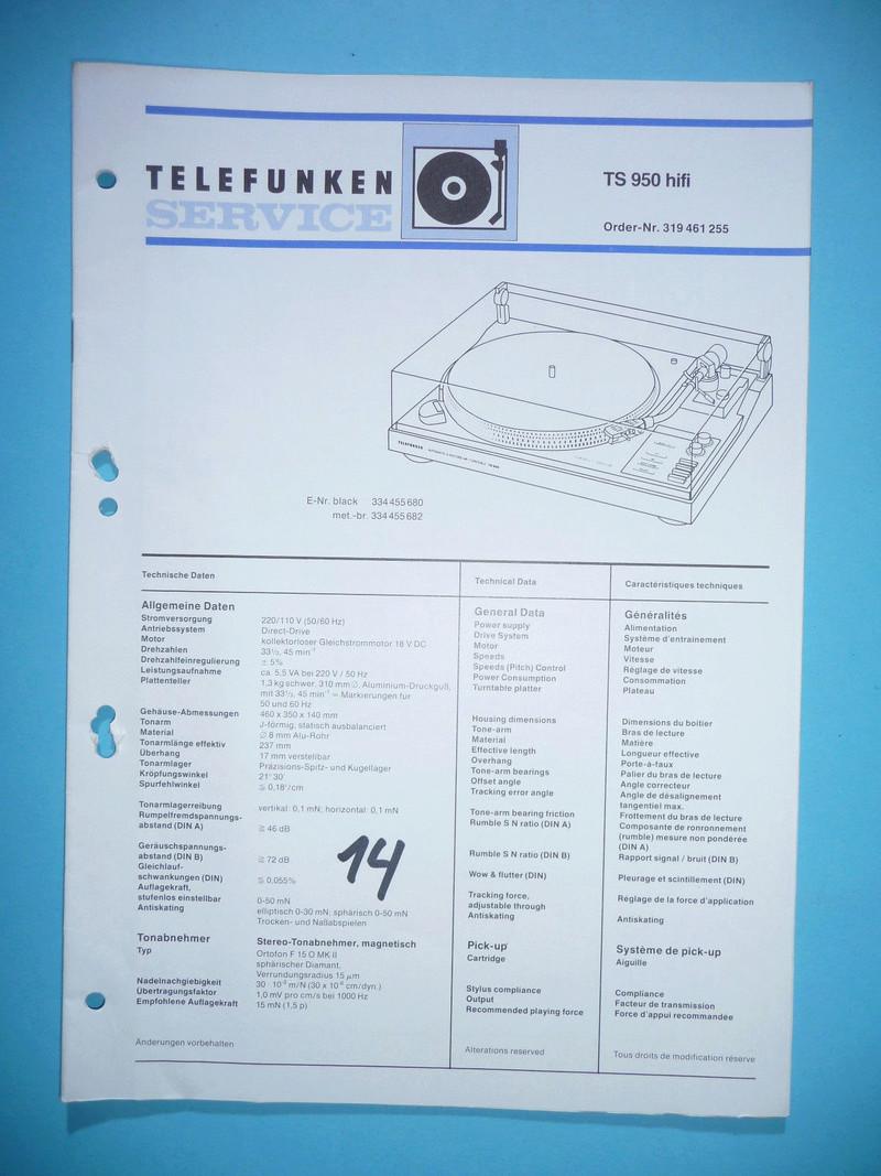 Giradischi  Telefunken modello TS 950 (upgrade testina/puntina) - Pagina 8 Servic10