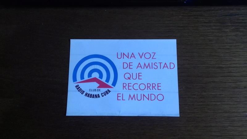 QSL RADIO HABANA CUBA 20171012