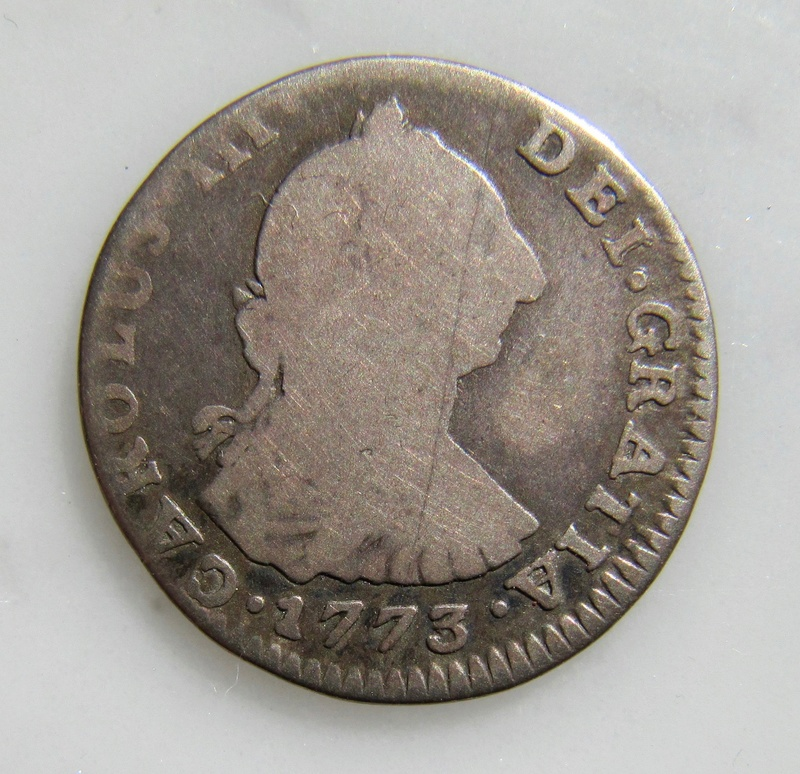 Santiago, Chile, 1 Real 1773  Chile_10