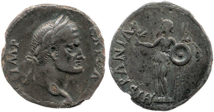 Denier de Galba frappé en Hispania - en apparence inédit.  Galba_12