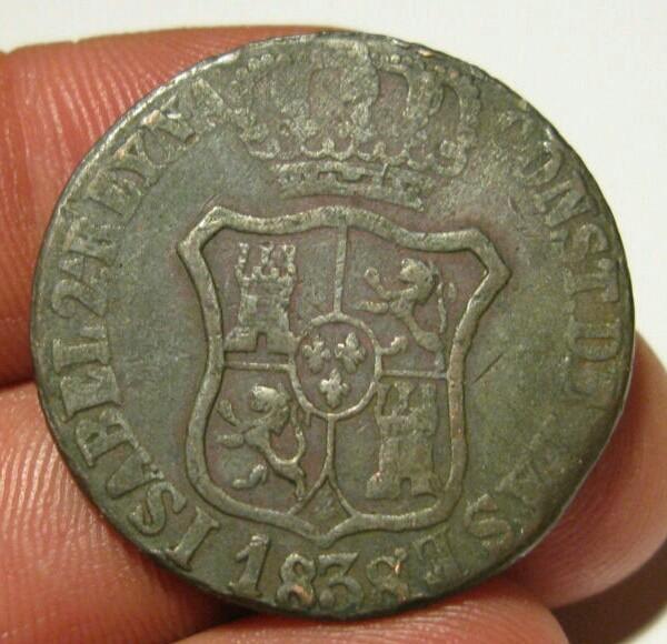 6 Cuartos 1838. Isabel II. Muy curiosos. Falsos de época 6_cuar10