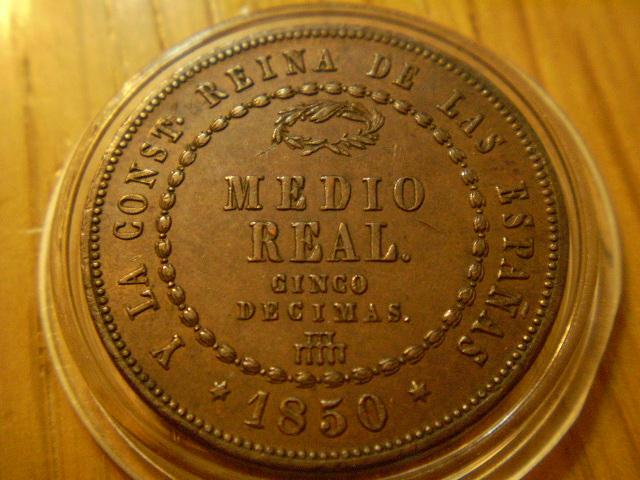 Medio real (Cinco decimas) 1850. Isabel II. Segovia.  Medio_10