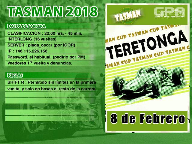 Tasman 2018 - Teretonga Tasman13