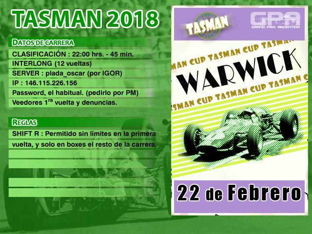 Tasman 2018 - Warwick Tasman15