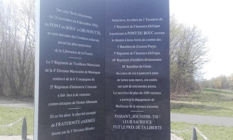 bataille du pont du bouc Haut Rhin 20180423