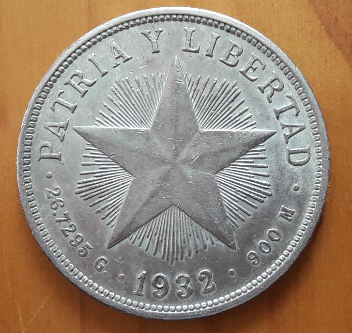 CUBA 1 PESO 1932 1932b_10