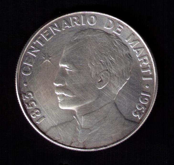 1 Peso (Centenario de José Martí). Cuba. 1953 1953a_10